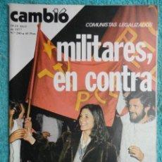 Coleccionismo de Revista Cambio 16: REVISTA CAMBIO 16 Nº 280 -COMUNISTAS LEGALIZADOS-ESPAÑA CEE-AMNISTIA-CHINA-IRA -PSOE, PCE. Lote 70025229