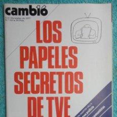 Coleccionismo de Revista Cambio 16: REVISTA CAMBIO 16 Nº 313 AÑO 1977 PAPELES DE TVE -MI NUEVA POLICIA -MUNICIPALES -TARRADELLAS-EL REY. Lote 70030633