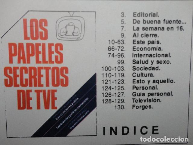 Coleccionismo de Revista Cambio 16: REVISTA CAMBIO 16 Nº 313 AÑO 1977 PAPELES DE TVE -MI NUEVA POLICIA -MUNICIPALES -TARRADELLAS-EL REY - Foto 2 - 70030633