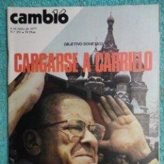 Coleccionismo de Revista Cambio 16: REVISTA CAMBIO 16 N º 291 AÑO 1977 ,CARGARSE A CARRILLO -UCD -ALBERTI -LA CRISIS -ETA -HOMOSEXUALES. Lote 70040541