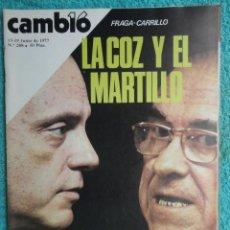 Coleccionismo de Revista Cambio 16: REVISTA CAMBIO 16 Nº 288 AÑO 1977 , FRAGA-CARRILLO -FENANDEZ-MIRANDA DIMITE -NEGOCIO DEL SEXO. Lote 70043621