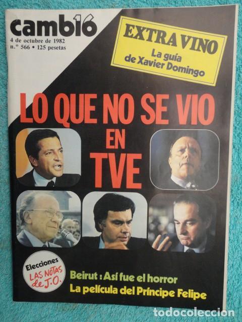 CAMBIO 16 ,Nº 566 , AÑO 1982 - EL TRIUNFO DE LA DEMOCRACIA -ETA -SUAREZ Y CARRILLO -BEIRUT -USA (Coleccionismo - Revistas y Periódicos Modernos (a partir de 1.940) - Revista Cambio 16)