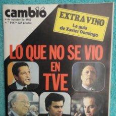 Coleccionismo de Revista Cambio 16: CAMBIO 16 ,Nº 566 , AÑO 1982 - EL TRIUNFO DE LA DEMOCRACIA -ETA -SUAREZ Y CARRILLO -BEIRUT -USA. Lote 70722449