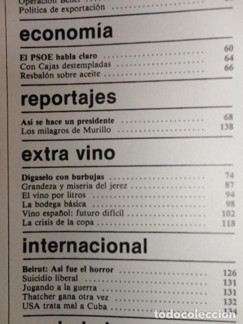 Coleccionismo de Revista Cambio 16: CAMBIO 16 ,Nº 566 , AÑO 1982 - EL TRIUNFO DE LA DEMOCRACIA -ETA -SUAREZ Y CARRILLO -BEIRUT -USA - Foto 3 - 70722449