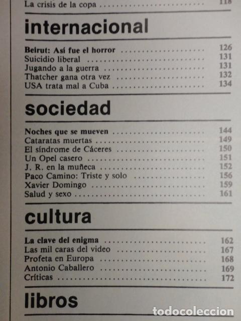 Coleccionismo de Revista Cambio 16: CAMBIO 16 ,Nº 566 , AÑO 1982 - EL TRIUNFO DE LA DEMOCRACIA -ETA -SUAREZ Y CARRILLO -BEIRUT -USA - Foto 4 - 70722449