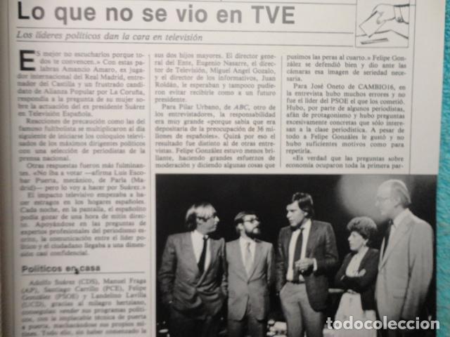 Coleccionismo de Revista Cambio 16: CAMBIO 16 ,Nº 566 , AÑO 1982 - EL TRIUNFO DE LA DEMOCRACIA -ETA -SUAREZ Y CARRILLO -BEIRUT -USA - Foto 8 - 70722449