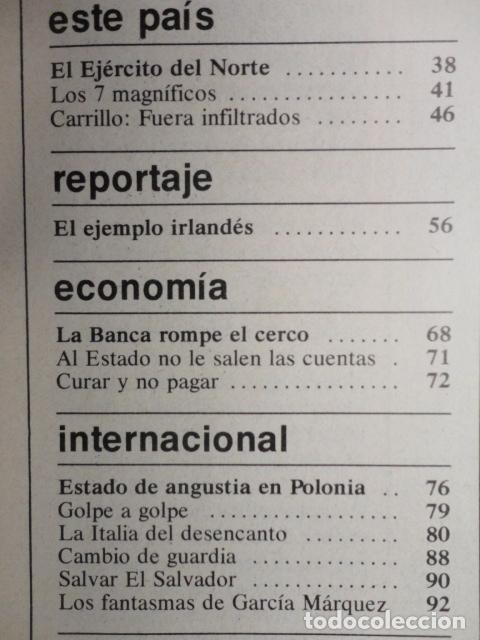 Coleccionismo de Revista Cambio 16: REVISTA CAMBIO 16 ,Nº 488 ,AÑO 1.981 - TERROR EN USA -LIQUIDAR A ETA -MADRID COGE LA BATUTA - Foto 3 - 70739197