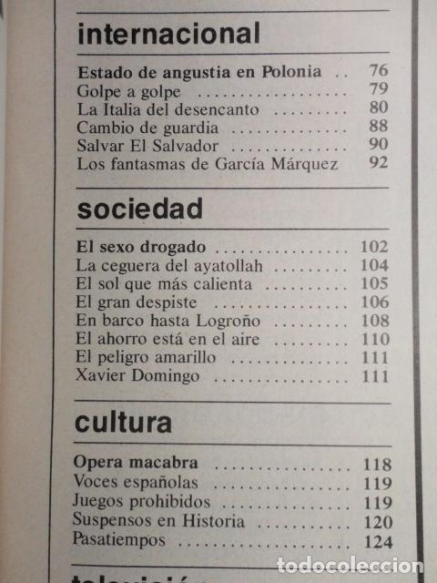 Coleccionismo de Revista Cambio 16: REVISTA CAMBIO 16 ,Nº 488 ,AÑO 1.981 - TERROR EN USA -LIQUIDAR A ETA -MADRID COGE LA BATUTA - Foto 4 - 70739197