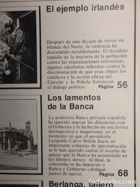 Coleccionismo de Revista Cambio 16: REVISTA CAMBIO 16 ,Nº 488 ,AÑO 1.981 - TERROR EN USA -LIQUIDAR A ETA -MADRID COGE LA BATUTA - Foto 6 - 70739197