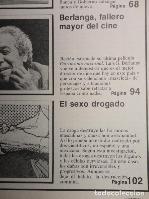 Coleccionismo de Revista Cambio 16: REVISTA CAMBIO 16 ,Nº 488 ,AÑO 1.981 - TERROR EN USA -LIQUIDAR A ETA -MADRID COGE LA BATUTA - Foto 7 - 70739197