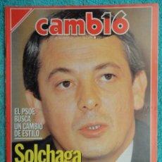 Coleccionismo de Revista Cambio 16: REVISTA CAMBIO 16 ,Nº 894 AÑO 1989 -ESPAÑA MENOS CATOLICA -LIBANO -FIDEL CASTRO -SOLCHAGA. Lote 70757657