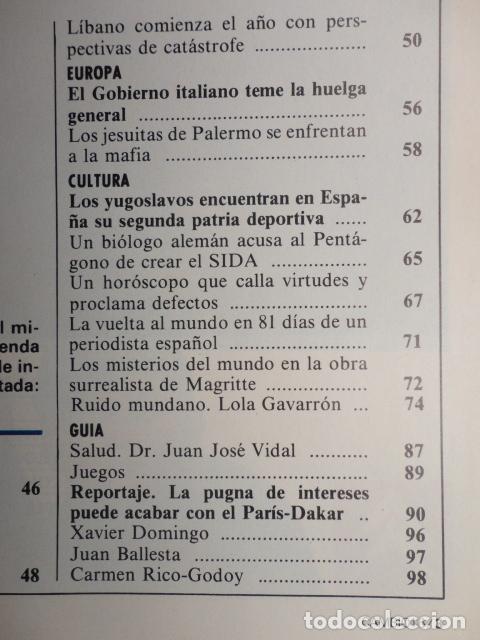 Coleccionismo de Revista Cambio 16: REVISTA CAMBIO 16 ,Nº 894 AÑO 1989 -ESPAÑA MENOS CATOLICA -LIBANO -FIDEL CASTRO -SOLCHAGA - Foto 3 - 70757657