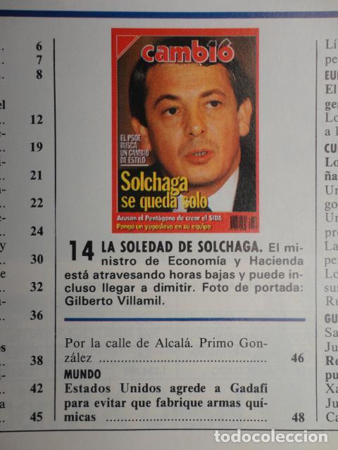 Coleccionismo de Revista Cambio 16: REVISTA CAMBIO 16 ,Nº 894 AÑO 1989 -ESPAÑA MENOS CATOLICA -LIBANO -FIDEL CASTRO -SOLCHAGA - Foto 4 - 70757657