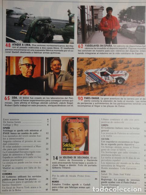 Coleccionismo de Revista Cambio 16: REVISTA CAMBIO 16 ,Nº 894 AÑO 1989 -ESPAÑA MENOS CATOLICA -LIBANO -FIDEL CASTRO -SOLCHAGA - Foto 6 - 70757657