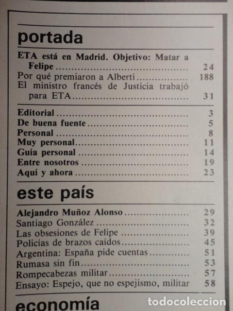 Coleccionismo de Revista Cambio 16: REVISTA CAMBIO 16 ,Nº 626 AÑO 1983 - ETA ,OBJETIVO MATAR A FELIPE -REAGAN -GUERRA AL GASTO -RUMASA - Foto 2 - 70915273