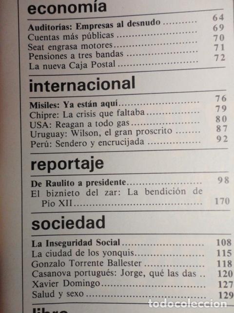 Coleccionismo de Revista Cambio 16: REVISTA CAMBIO 16 ,Nº 626 AÑO 1983 - ETA ,OBJETIVO MATAR A FELIPE -REAGAN -GUERRA AL GASTO -RUMASA - Foto 3 - 70915273