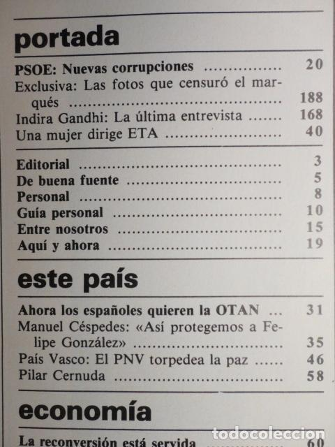 Coleccionismo de Revista Cambio 16: REVISTA DIARIO 16 ,Nº 676 AÑO 1984 - RECONVERSION -ETA -LA OTAN -PSOE ,CORRUPCIONES -PAUL McCARTNEY - Foto 2 - 99730784