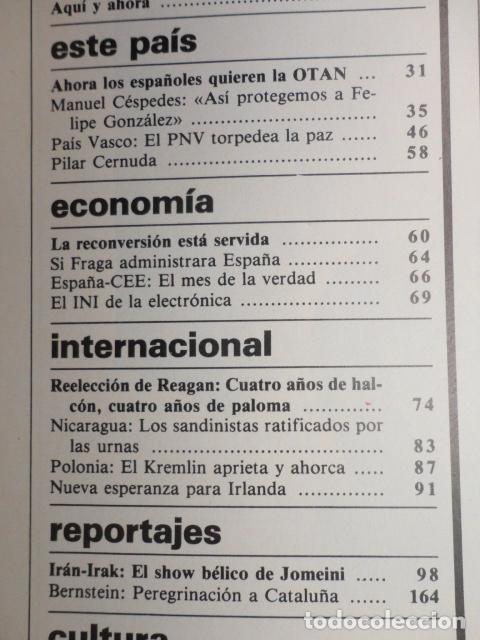 Coleccionismo de Revista Cambio 16: REVISTA DIARIO 16 ,Nº 676 AÑO 1984 - RECONVERSION -ETA -LA OTAN -PSOE ,CORRUPCIONES -PAUL McCARTNEY - Foto 3 - 99730784