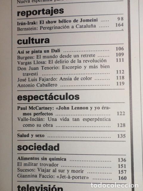 Coleccionismo de Revista Cambio 16: REVISTA DIARIO 16 ,Nº 676 AÑO 1984 - RECONVERSION -ETA -LA OTAN -PSOE ,CORRUPCIONES -PAUL McCARTNEY - Foto 4 - 99730784