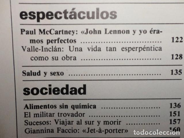 Coleccionismo de Revista Cambio 16: REVISTA DIARIO 16 ,Nº 676 AÑO 1984 - RECONVERSION -ETA -LA OTAN -PSOE ,CORRUPCIONES -PAUL McCARTNEY - Foto 6 - 99730784