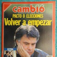 Coleccionismo de Revista Cambio 16: REVISTA CAMBIO 16 Nº 891 AÑO 1988 - FELIPE GONZALEZ -SINDICATOS -PLAN DE EMPLEO -PACTOS. Lote 71000973