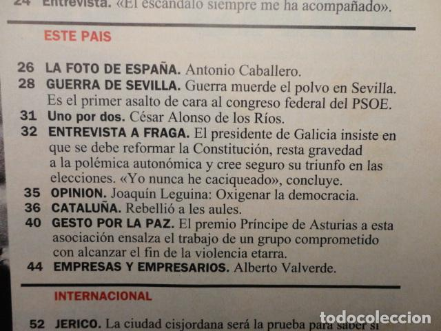 Coleccionismo de Revista Cambio 16: REVISTA CAMBIO 16 Nº 1140 AÑO 1993 -CRISIS PSOE -REBELLIO A LES AULES -MANUEL FRAGA -JERICO, - Foto 3 - 71250459