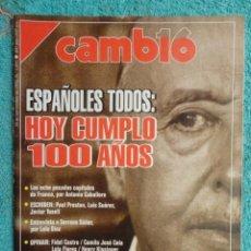 Coleccionismo de Revista Cambio 16: REVISTA CAMBIO 16 ,Nº 1097 ,1992 - HOY CUMPLO 100 AÑOS -PESETA,RESTA Y SIGUE -FUMAR EN PUBLICO. Lote 71253239