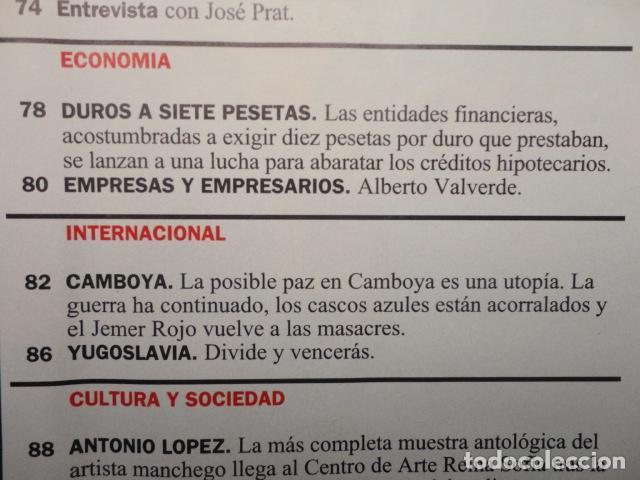 Coleccionismo de Revista Cambio 16: CAMBIO 16,Nº 1121 (1993) EL PARO -FILESA -IMPUESTOS- PRESION FISCAL -MEJOR ESTADO,NO MAS ESTADO-BOSE - Foto 4 - 71261559