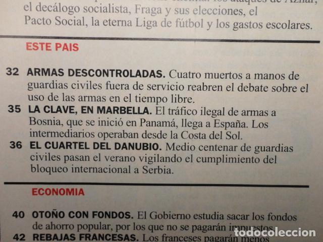 Coleccionismo de Revista Cambio 16: CAMBIO 16 Nº 1137 AÑO 1993 - EL AGOBIO- AZNAR ATACA -PACTAR LA CRISIS --FRAGA -PUJOL -TINA TURNER - Foto 3 - 71286827