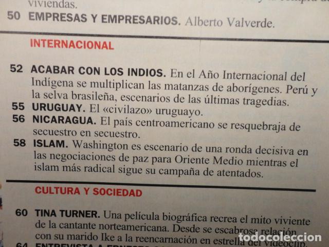 Coleccionismo de Revista Cambio 16: CAMBIO 16 Nº 1137 AÑO 1993 - EL AGOBIO- AZNAR ATACA -PACTAR LA CRISIS --FRAGA -PUJOL -TINA TURNER - Foto 5 - 71286827