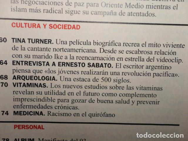 Coleccionismo de Revista Cambio 16: CAMBIO 16 Nº 1137 AÑO 1993 - EL AGOBIO- AZNAR ATACA -PACTAR LA CRISIS --FRAGA -PUJOL -TINA TURNER - Foto 6 - 71286827