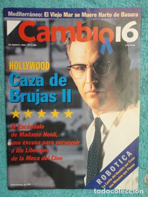 REVISTA CAMBIO 16 ,Nº 1136 AÑO 1993 -AZNAR - HOLLYWOOD -SUPERLOPEZ -ESTAMBUL ,ARO ,DE EUROPA (Coleccionismo - Revistas y Periódicos Modernos (a partir de 1.940) - Revista Cambio 16)
