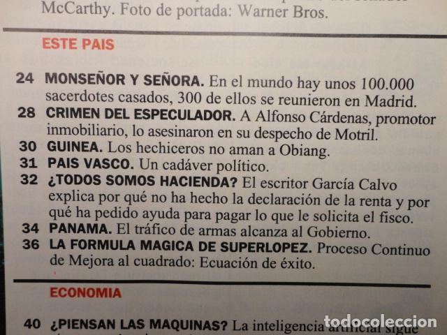 Coleccionismo de Revista Cambio 16: REVISTA CAMBIO 16 ,Nº 1136 AÑO 1993 -AZNAR - HOLLYWOOD -SUPERLOPEZ -ESTAMBUL ,ARO ,DE EUROPA - Foto 3 - 71342079