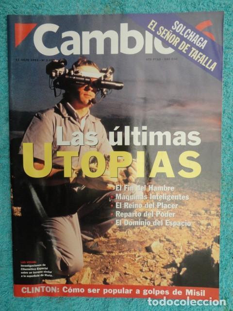 REVISTA CAMBIO 16 Nº 1129 AÑO 1993 -UTOPIAS -SOLCHAGA -RETOS DE FELIPE -CLINTON - CUBA -LOS KURDOS- (Coleccionismo - Revistas y Periódicos Modernos (a partir de 1.940) - Revista Cambio 16)