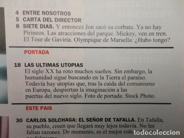 Coleccionismo de Revista Cambio 16: REVISTA CAMBIO 16 Nº 1129 AÑO 1993 -UTOPIAS -SOLCHAGA -RETOS DE FELIPE -CLINTON - CUBA -LOS KURDOS- - Foto 2 - 71387019
