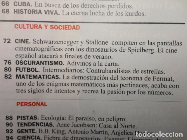 Coleccionismo de Revista Cambio 16: REVISTA CAMBIO 16 Nº 1129 AÑO 1993 -UTOPIAS -SOLCHAGA -RETOS DE FELIPE -CLINTON - CUBA -LOS KURDOS- - Foto 5 - 71387019