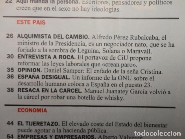 Coleccionismo de Revista Cambio 16: REVISTA CAMBIO 16 ,Nº 1132 -DEFICIT DEMOCRATICO -SEXO -ESPAÑA DESIGUAL -EL ESTADO SOCIAL - GAYS - Foto 3 - 71404715