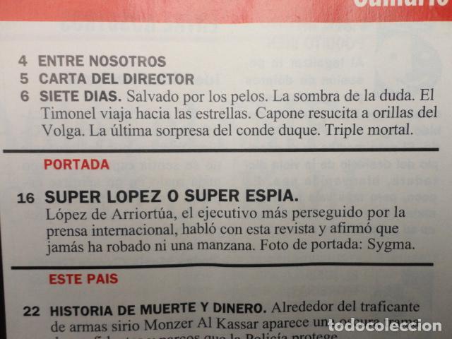Coleccionismo de Revista Cambio 16: REVISTA CAMBIO 16 ,Nº 1133 ,AÑO 1993 -SUPER LOPEZ -TORRES KIO -CRISIS EN ITALIA -BOSNIA -MARIO CONDE - Foto 2 - 71407019