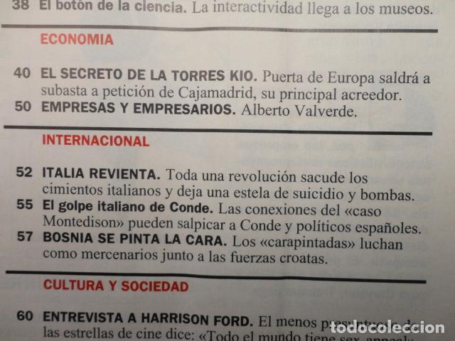 Coleccionismo de Revista Cambio 16: REVISTA CAMBIO 16 ,Nº 1133 ,AÑO 1993 -SUPER LOPEZ -TORRES KIO -CRISIS EN ITALIA -BOSNIA -MARIO CONDE - Foto 4 - 71407019