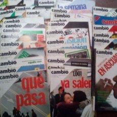 Coleccionismo de Revista Cambio 16: LOTE 122 REVISTAS CAMBIO 16 AÑO 1974-1975-1976. Lote 82188180