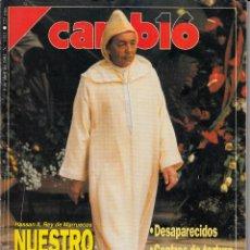 Coleccionismo de Revista Cambio 16: CAMBIO 16. 8/4/1991. Nº 1011. HASSAN II, REY DE MARRUECOS: NUESTRO AMIGO EL TIRANO.. Lote 84115740