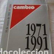Coleccionismo de Revista Cambio 16: CAMBIO 16 - 1971/1991. Lote 86347116