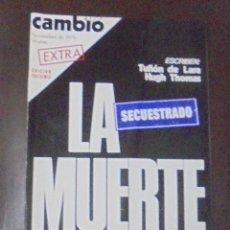 Coleccionismo de Revista Cambio 16: REVISTA CAMBIO 16. NOVIEMBRE 1975. EXTRA. EDICION FACSIMIL. LA MUERTE. SECRUESTRADO. Lote 86903348