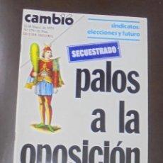 Coleccionismo de Revista Cambio 16: REVISTA CAMBIO 16. MAYO 1975.EDICION FACSIMIL. PALOS A LA OPOSICION. SINDICATOS: ELECCIONES Y FUTURO. Lote 86907124