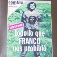 Coleccionismo de Revista Cambio 16: REVISTA CAMBIO 16. TODO LO QUE FRANCO NOS PROHIBIO. 1974 - 1977. EDICION FACSIMIL. Lote 86908172