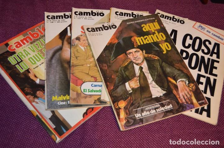 LOTE 6 REVISTAS CAMBIO 16 / CAMB16 - AÑOS 70 Y 80 - PERIODO POLITICO Y SOCIAL MUY INTERESANTE - L01 (Coleccionismo - Revistas y Periódicos Modernos (a partir de 1.940) - Revista Cambio 16)