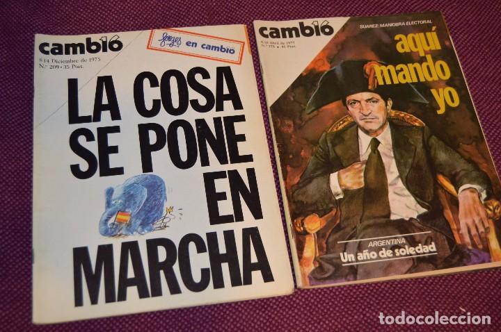 Coleccionismo de Revista Cambio 16: LOTE 6 REVISTAS CAMBIO 16 / CAMB16 - AÑOS 70 Y 80 - PERIODO POLITICO Y SOCIAL MUY INTERESANTE - L01 - Foto 2 - 89215352