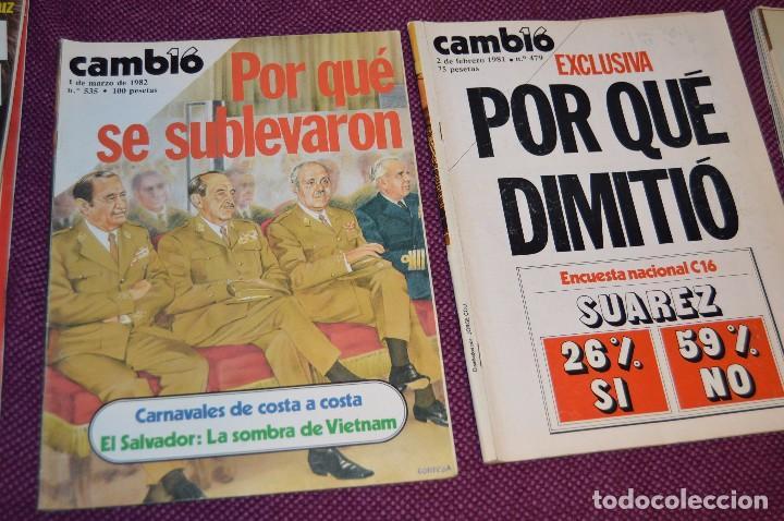 Coleccionismo de Revista Cambio 16: LOTE 6 REVISTAS CAMBIO 16 / CAMB16 - AÑOS 70 Y 80 - PERIODO POLITICO Y SOCIAL MUY INTERESANTE - L01 - Foto 3 - 89215352