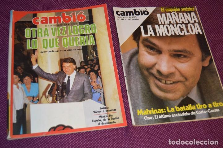Coleccionismo de Revista Cambio 16: LOTE 6 REVISTAS CAMBIO 16 / CAMB16 - AÑOS 70 Y 80 - PERIODO POLITICO Y SOCIAL MUY INTERESANTE - L01 - Foto 4 - 89215352