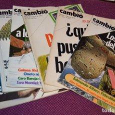 Coleccionismo de Revista Cambio 16: LOTE 6 REVISTAS CAMBIO 16 / CAMB16 - AÑOS 70 Y 80 - PERIODO POLITICO Y SOCIAL MUY INTERESANTE - L02. Lote 89215484